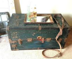 vintage trunk coffee table antique trunk coffee table vintage trunks and chests beautiful