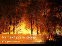 fire forest powerpoint template id 0000027391 upresentation com