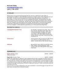 Sql Resume For Freshers Remarkable Resume For Sql Developer Fresher For Sql Developer