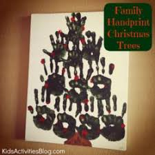 family oriented december activities including handprint art are
