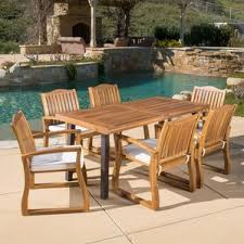 Teak Dining Room Furniture Teak Patio Dining Sets You U0027ll Love Wayfair