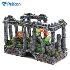 aquarium fish tank decorations antique column ruins