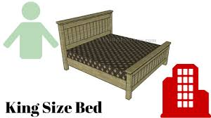 How To Build A King Size Bed Frame Youtube
