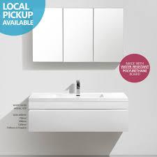 Bathroom Furniture White Gloss Asti 1200mm White Gloss Polyurethane Wall Hung Soft