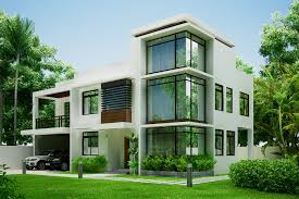 two storey modern residential building