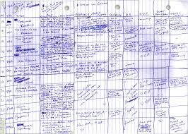 Spreadsheet Reader Harry Potter Plot Outlined On A Hand Drawn Spreadsheet