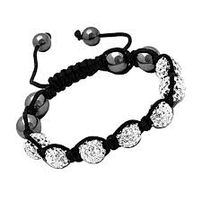 crystal shamballa bracelet images Silver unisex bracelet crystal disco ball friendship bead crystals jpg