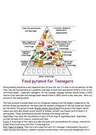 17 free esl food pyramid worksheets