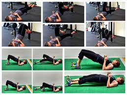 the glute bridge and curl redefining strength