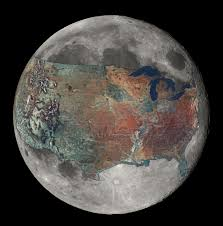 and now for a sense of scale a map of the u s overlaid on the moon