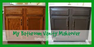 My Painted Bathroom Vanity Before - oak bathroom vanity makeover best bathroom decoration