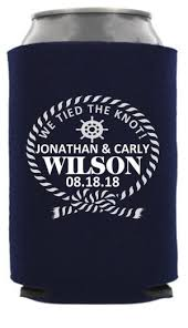 nautical wedding sayings nautical wedding can coolers nautical can cooler