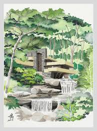 falling water pencil sketch on paper scanned colored in u2026 flickr