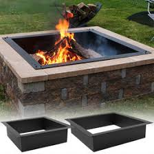 Fire Pit With Water Feature - sunnydaze square heavy duty fire pit liner