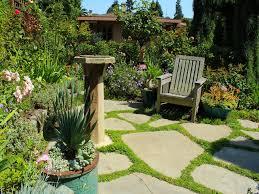 Backyard Stepping Stones by Garden Beautiful Backyard Garden Inspiration Featuring Natural