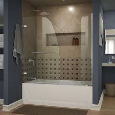 dreamline aqua uno 60 in x 58 in semi framed hinged tub shower