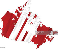 Red White Striped Flag Canada Flag Map On White Background Vector Art Getty Images
