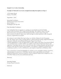 internship consulting cover letter