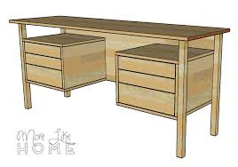 Long Desk With Drawers by More Like Home Diy Desk Series 5 Mid Century Inspired Floating