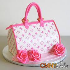 pink louis vuitton bag with roses cake cmny cakes elvie u0027s