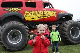monster trucks toys monster truck event collect toys for local children franklin