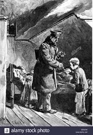 justice bailiff as good samaritan wood engraving by c koch