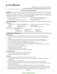 supervisor resume templates valuable restaurant supervisor cv sle supervisor resume sle