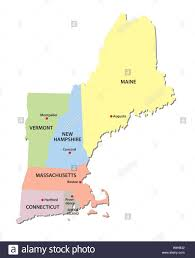 Map New England by New England States Map Stock Vector Art U0026 Illustration Vector