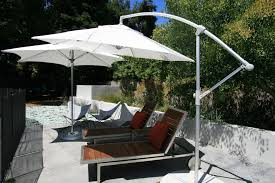 cantilever umbrella in modern san francisco with add pergola to