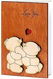 amazon com bestomz real wood greeting card handmade love cards