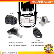 nissan altima engine mount engine automatic trans mount kit set fits 02 06 nissan altima 2 5l
