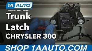 how to open trunk when latch fails how to replace trunk latch 2005