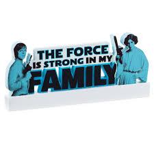star wars the force word cutout decorative accessories hallmark