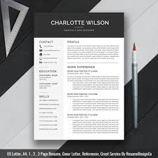 Sample Resume Format With Cover Letter by Professional Modern Resume Template Cv Template Cover Letter