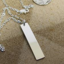 sterling silver personalized necklace images Fine silver bar necklace minimalist necklace pure silver jpeg