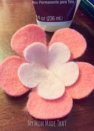 felt flower headband moana felt flower headband my made that