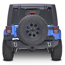 Rugged Ridge Tire Carrier E Autogrilles Jeep Wrangler Rear Bumper With Tire Carrier