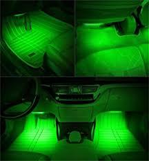 Car Interior Leds Amazon Com Ledglow 4pc Green Led Car Interior Underdash Lighting