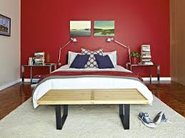 small bedroom color scheme red dark red covered blanket decorating