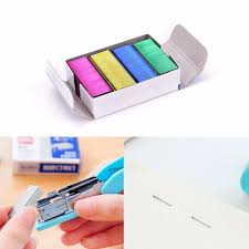 reliure bureau 1 pack 10mm creative coloré en acier inoxydable agrafes de bureau