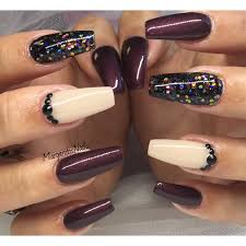 beautiful fall color coffin nails nail art gallery