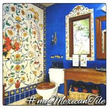 Mexican Tile Bathroom Ideas Colors Mexican Tiles Talavera Tile Murals Toilets U0026 Sinks