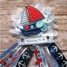 anchor baby shower ideas ahoy its a boy nautical corsage nautical baby by bloomingparty