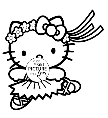 hello kitty ballerina coloring page printable pages click the pdf