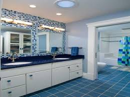 blue and white bathroom decorating ideas blue white and yellow