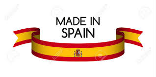 Spainish Flag Colored Ribbon With The Spanish Colors Made In Spain Symbol