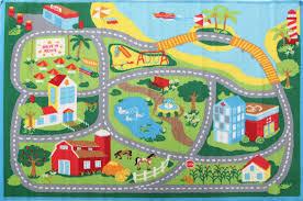 little circus non slip kids road map rug beach blue u2013 rugs n timber