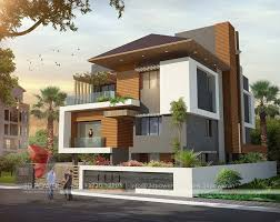 bungalow design 3d modern bungalow exterior day rendering elevation design