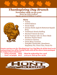 thanksgiving day brunch the hunt store in the hill country