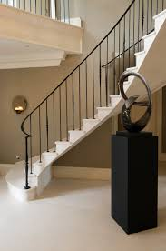 Lighting For Hallways And Landings by 19 Moleanos Stone Cantilever Stair With Elegant Metal Balustrade